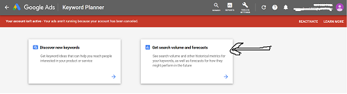2 Get search volume of keywords