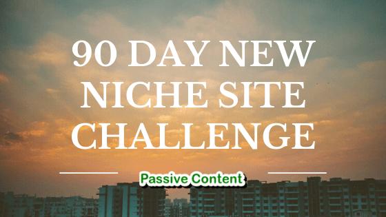 90 Day Niche Site Challenge